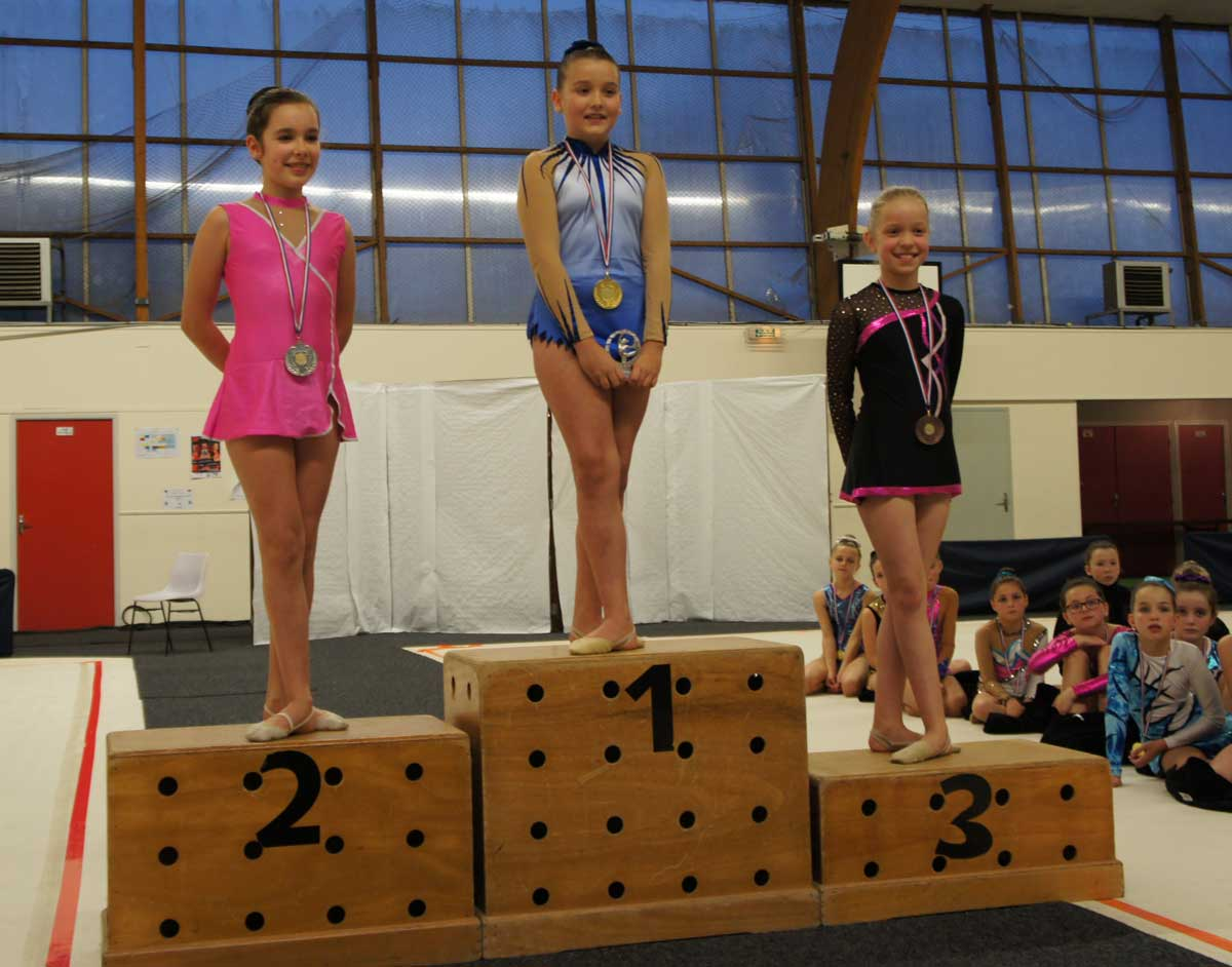Podium Poussines - district 2015
