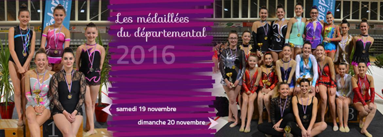 Les médaillées du Départemental individuel 2016