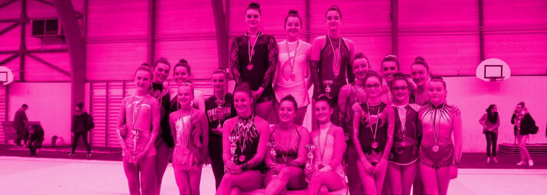 Les médaillées landernéennes au régional individuel de GRS 2015